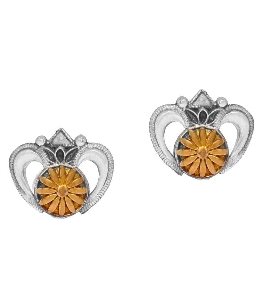 5.00 Grams Oxidised Plated Earrings Jewellery