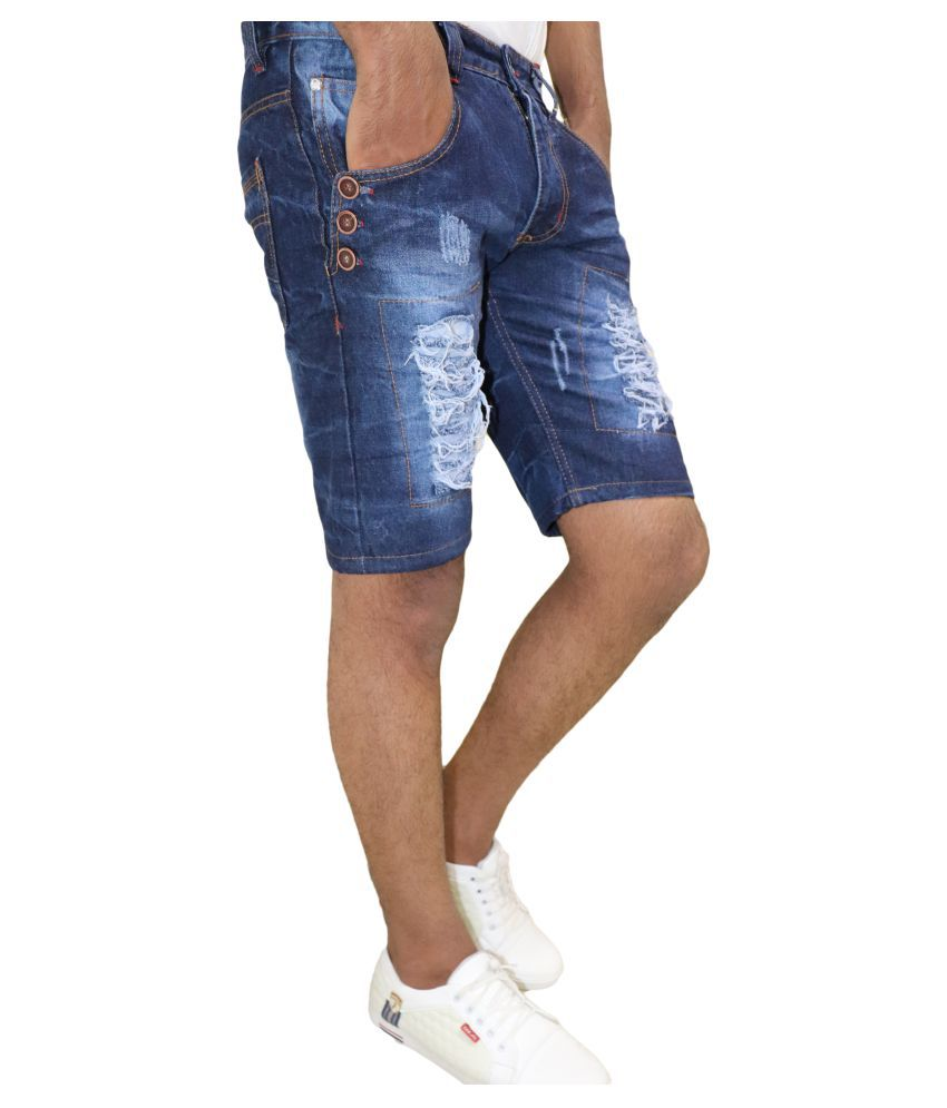 DREAM VISION Blue Regular -Fit Flat Cargos