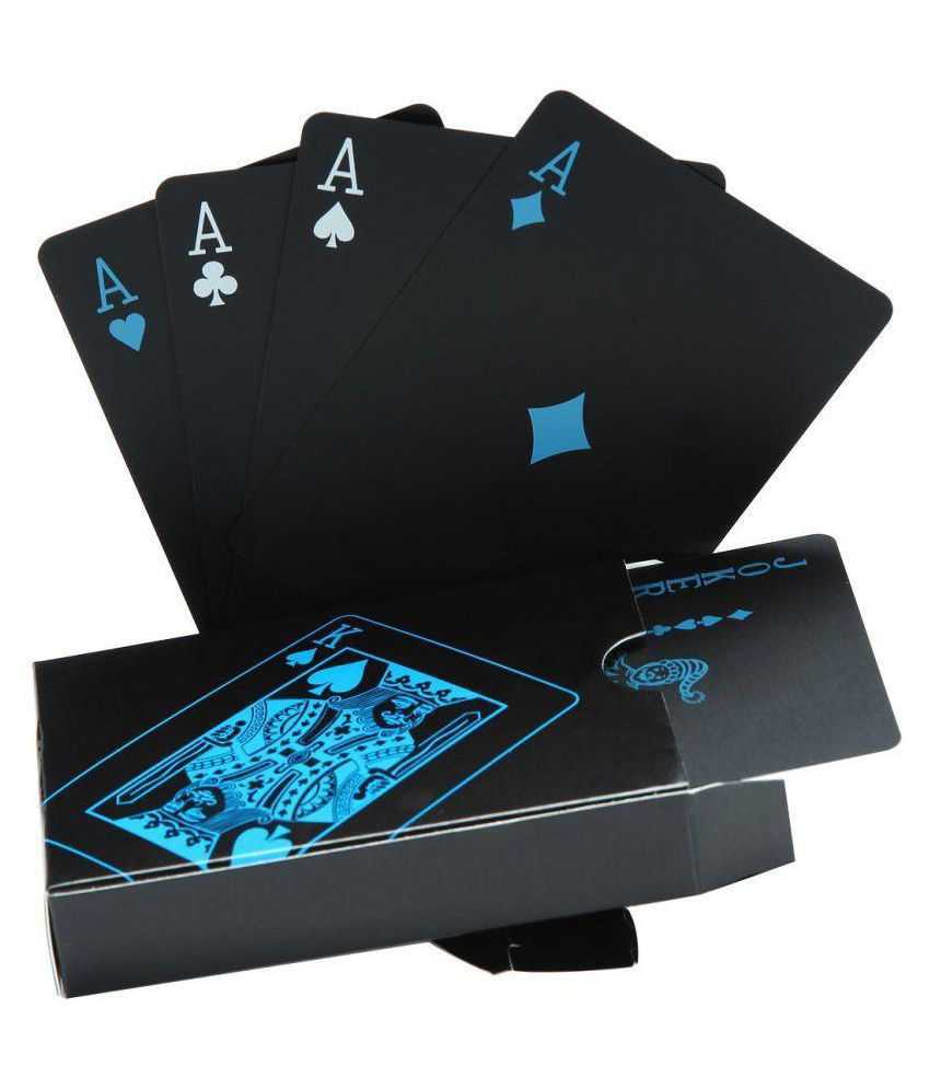 K Kudos Enterprise Black Plastic Playing Cards
