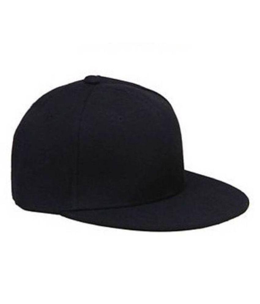 Babji Stylish Look Solid Black Plain Hip-hop Cap