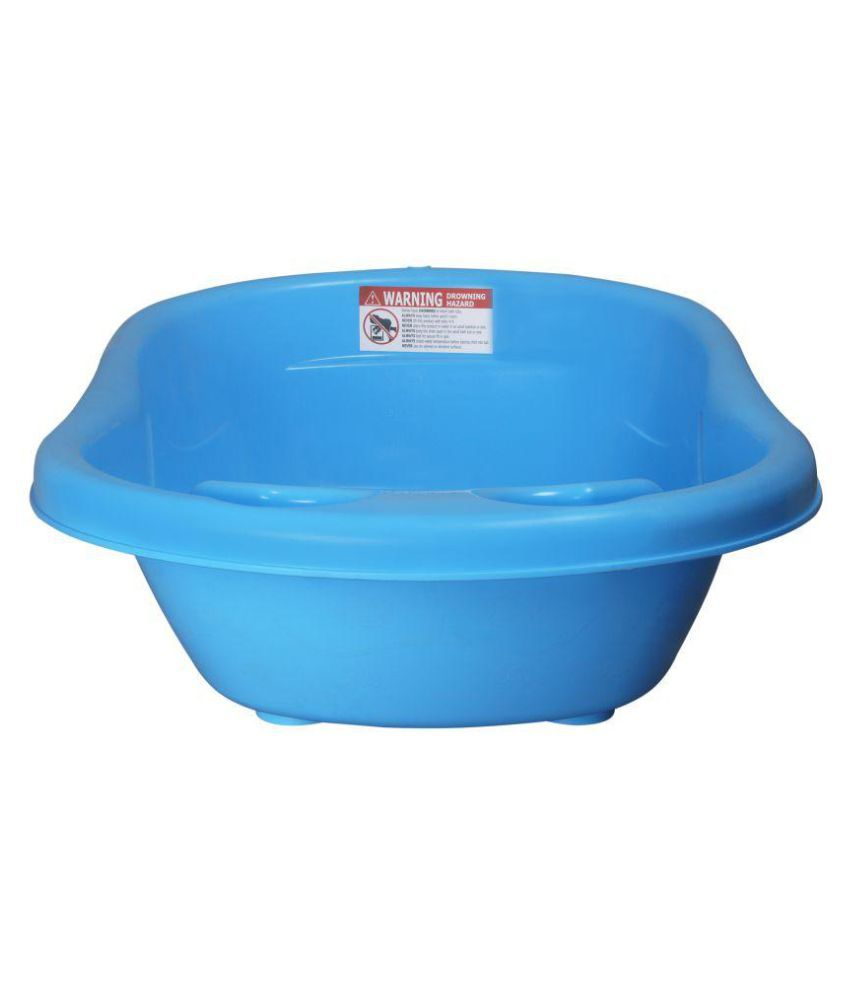 Sunbaby Blue Plastic Baby Bath Tub