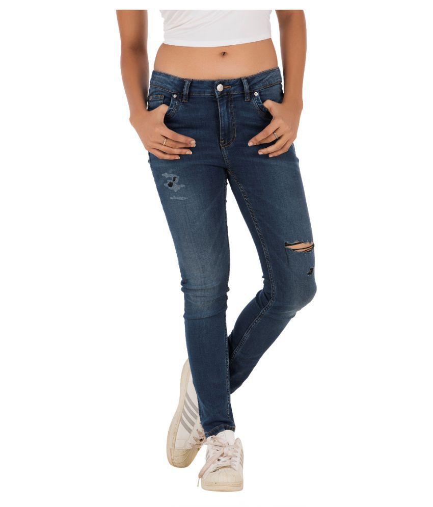 Fast n Fashion Denim Lycra Jeans - Blue
