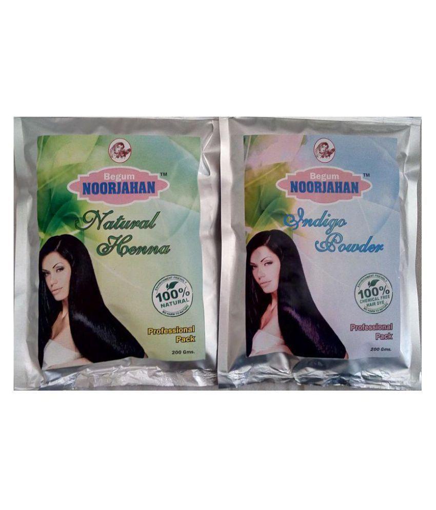 Begum Noorjahan Indigo Powder Henna Powder Semi Permanent Hair