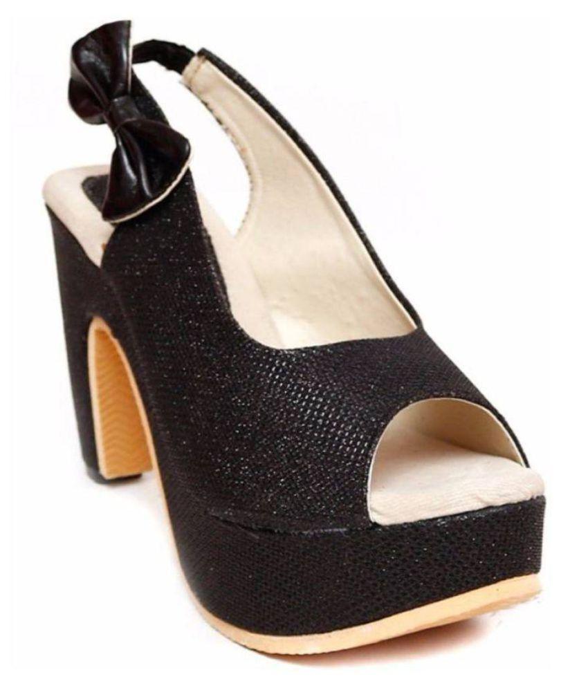 Daj Wari Black Cone Heels