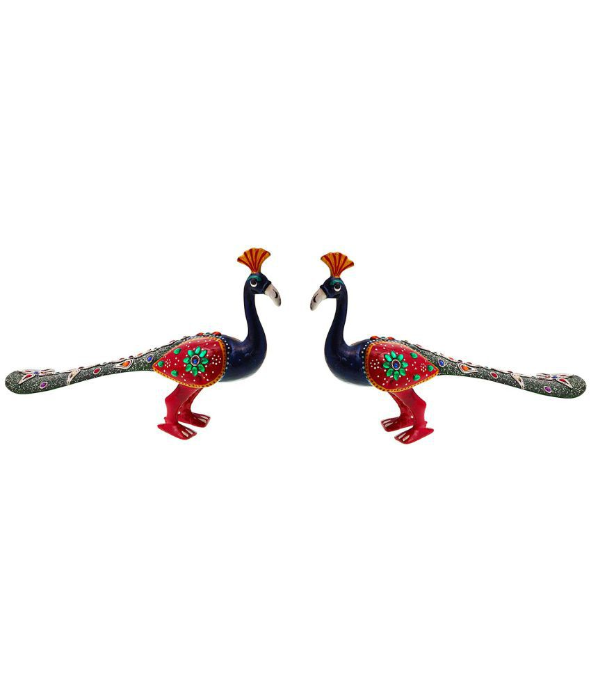 Halowishes Multicolour Paper Mache Handicraft Showpiece - Pack of 2