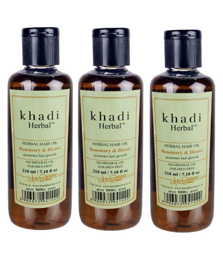 Khadi Herbal Rosemary & Henna Hair Oil 630 ml Pack of 3