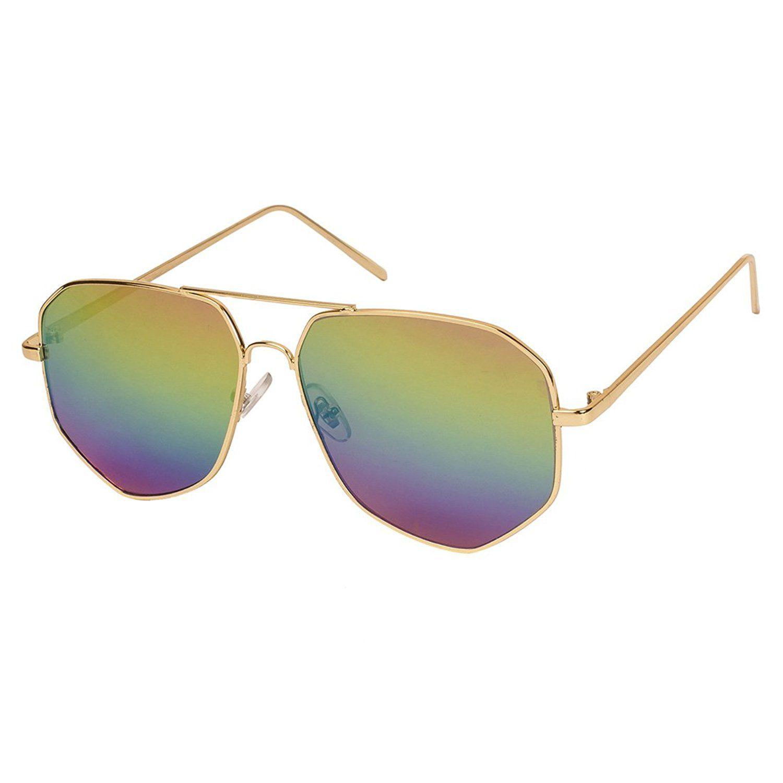Davidson White Aviator Sunglasses ( DN-030-NEWMULTISHADE-ATR )