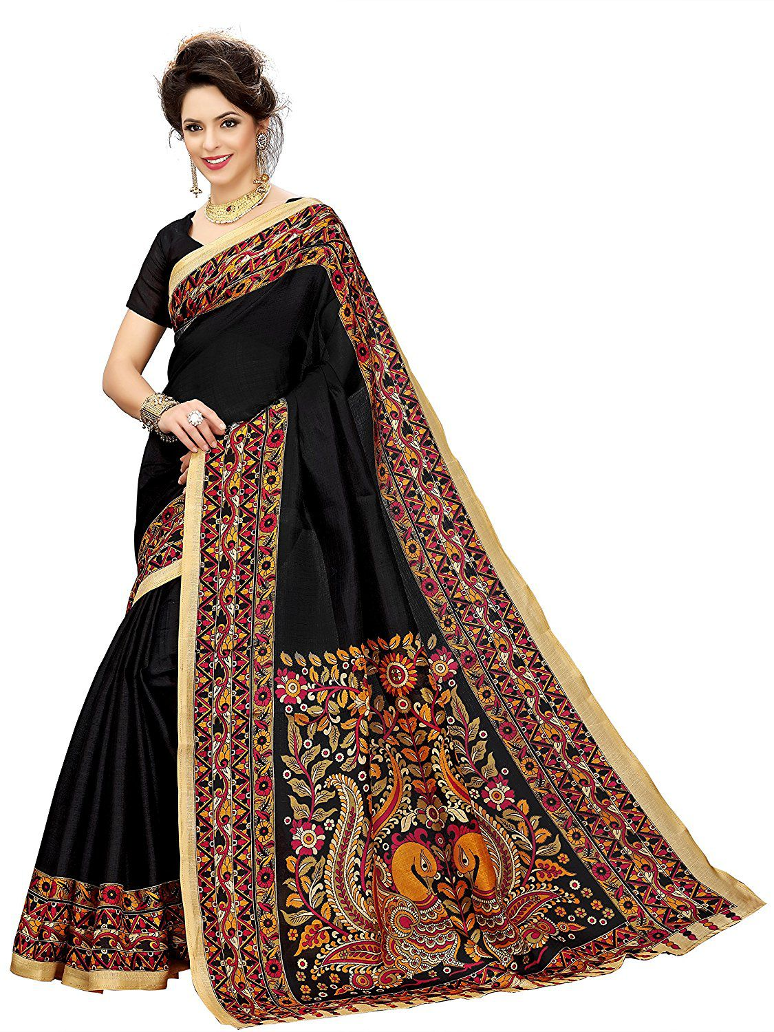 a403274ee15 KANCHAN TEXTILES Brown and Beige Cotton Silk Saree - Buy KANCHAN TEXTILES  Brown and Beige Cotton Silk Saree Online at Low Price - Snapdeal.com