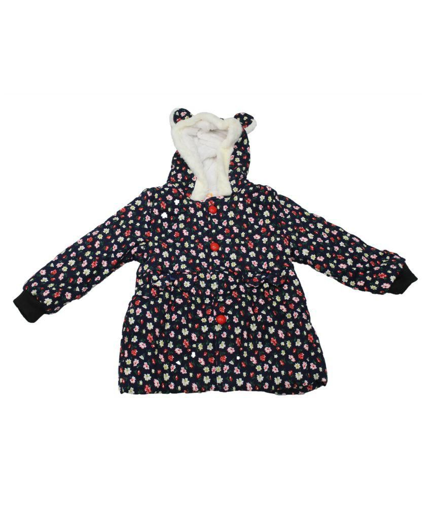 cheeseling Full Sleeve Floral Print Baby Girl's Jacket