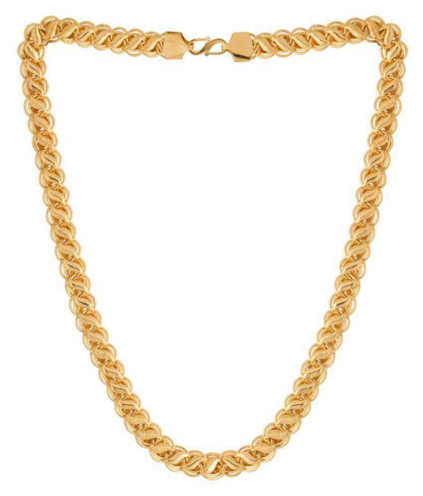 Dare by Voylla Men's Chain In Gold Plating