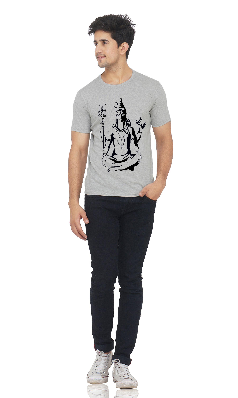 M R MARC ROSE Grey Round T-Shirt
