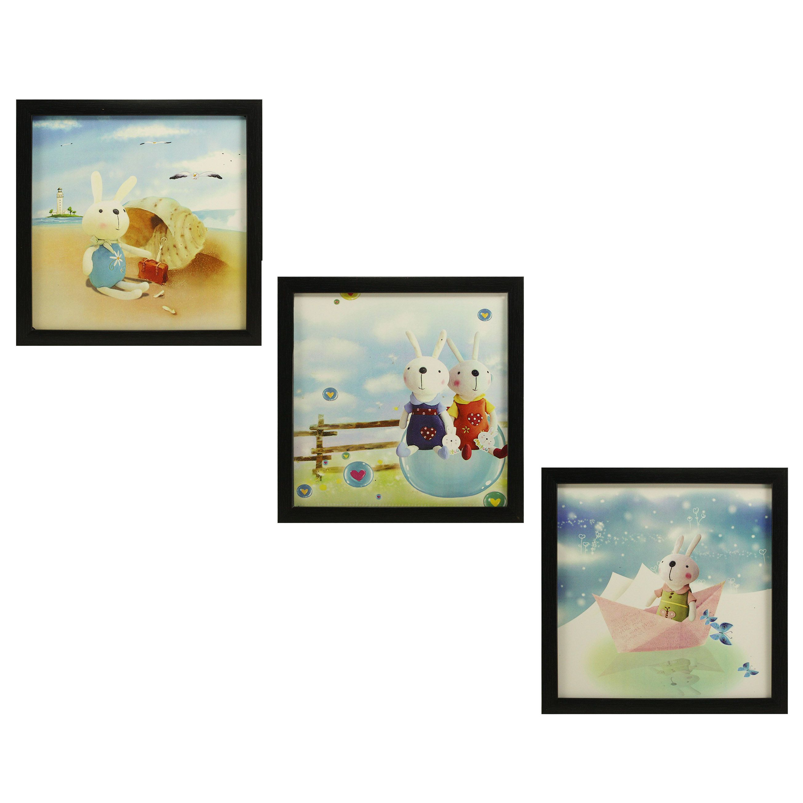 Indianara Kids Décor MDF Painting With Frame