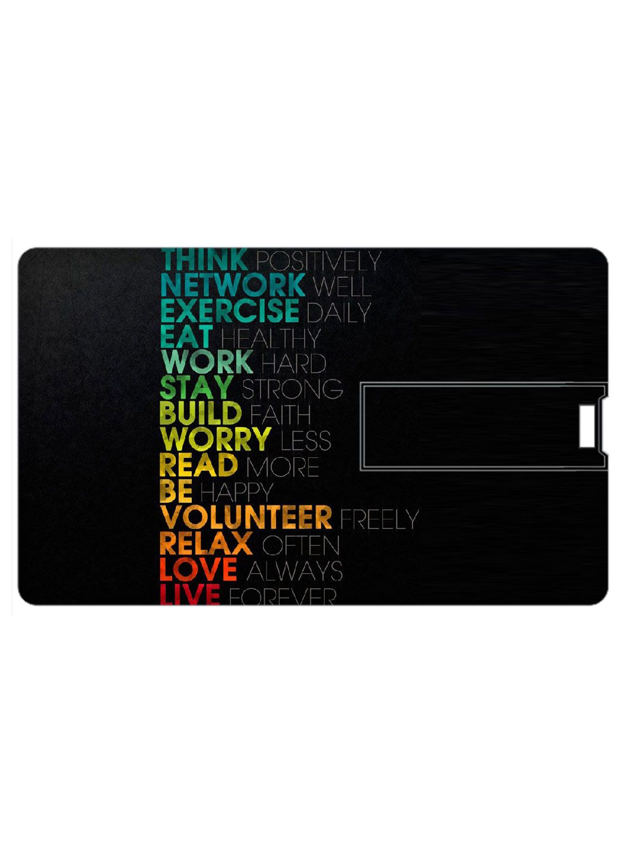 Printland Credit Card Shape 8GB USB 2.0 Fancy Pendrive Single