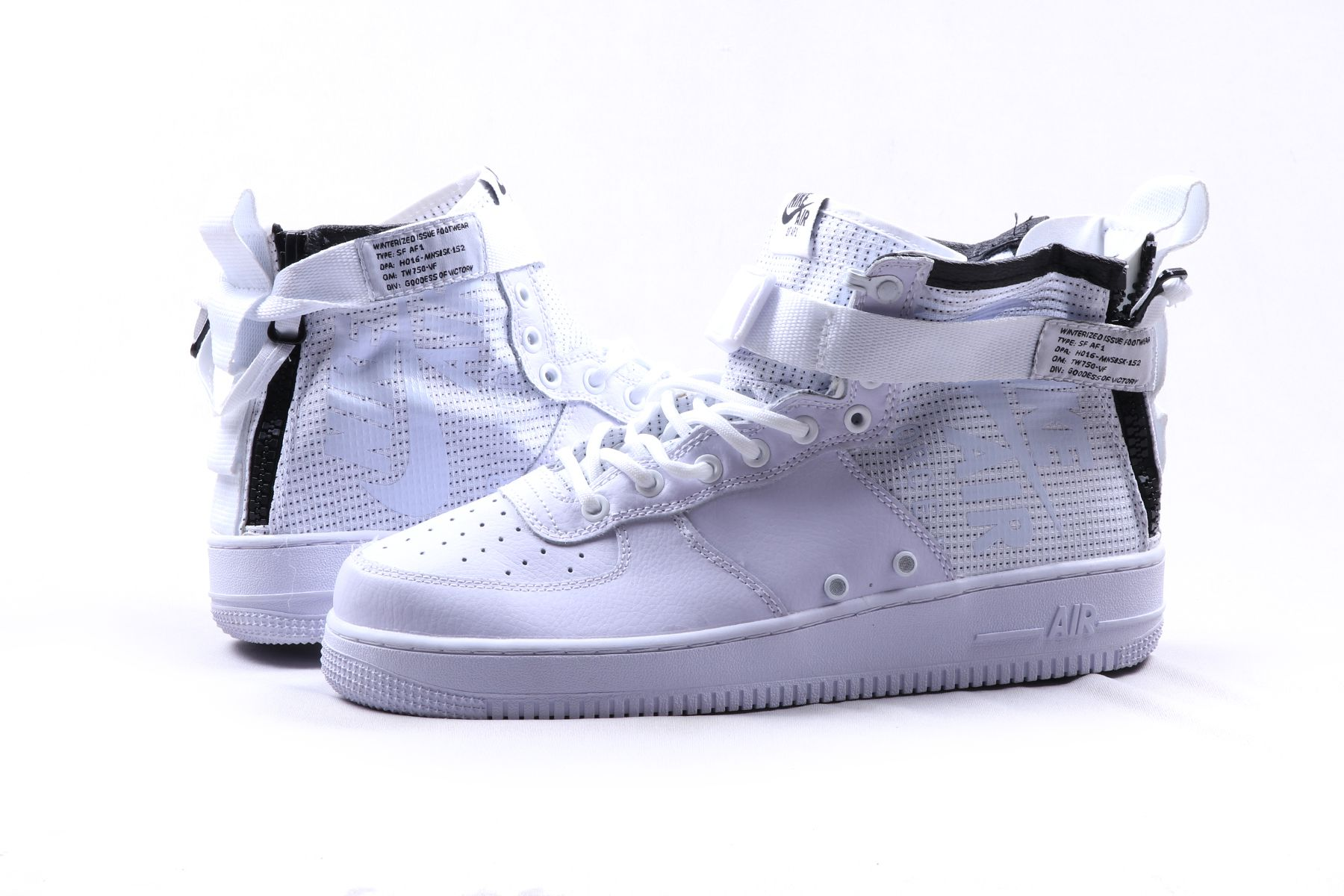 low priced d7d83 77be6 Nike 1 SF AIR FORCE 1 MID White Sneakers White Casual Shoes