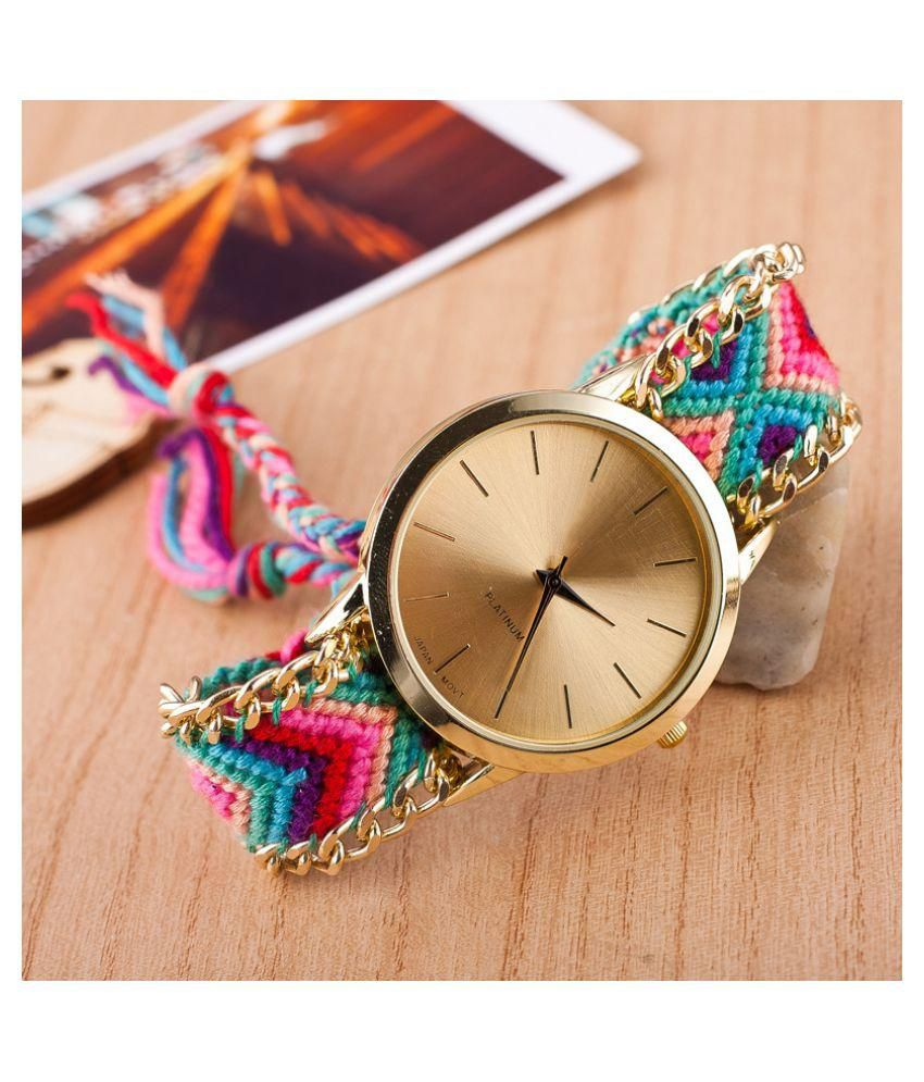 Renaissance Traders Multi Colour Dazzling Awesome Stylish Fashionable New Trendy Partywear Bracelet Watch