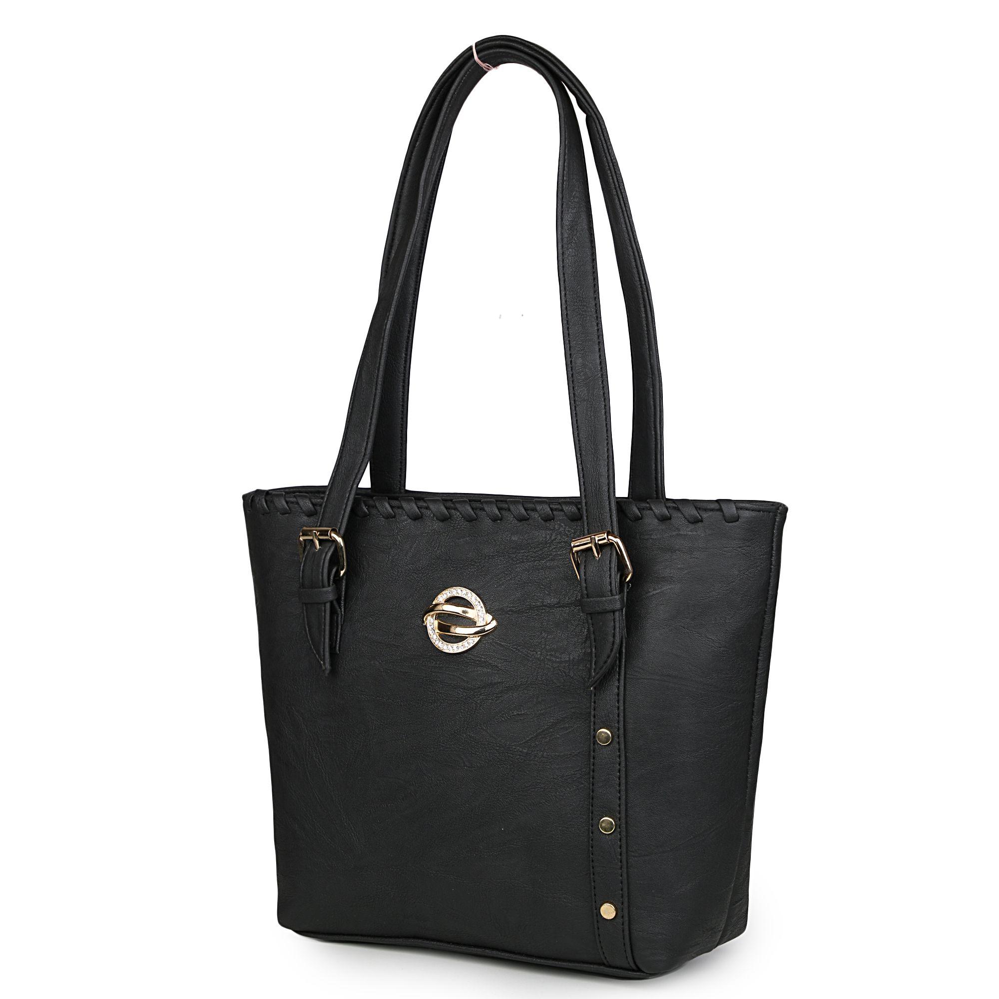 JAZZENTERPRISES Black P.U. Shoulder Bag