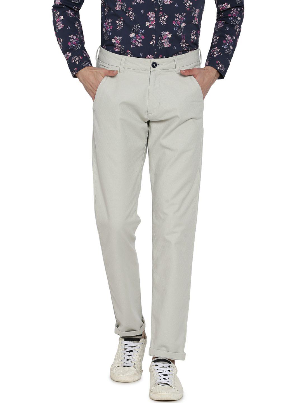 Rare Rabbit Beige Slim -Fit Flat Trousers