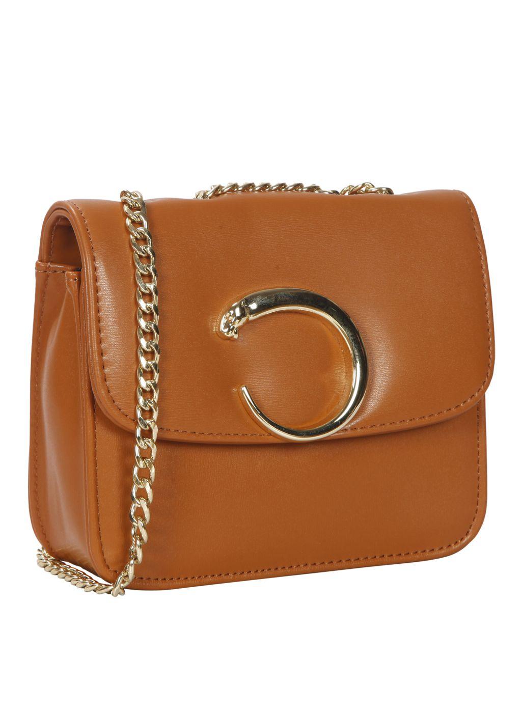 Bagkok Tan P.U. Sling Bag