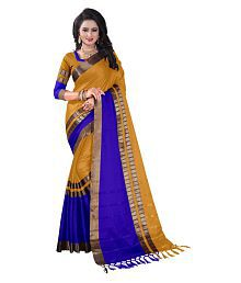 Ved Creation Gold Cotton Saree
