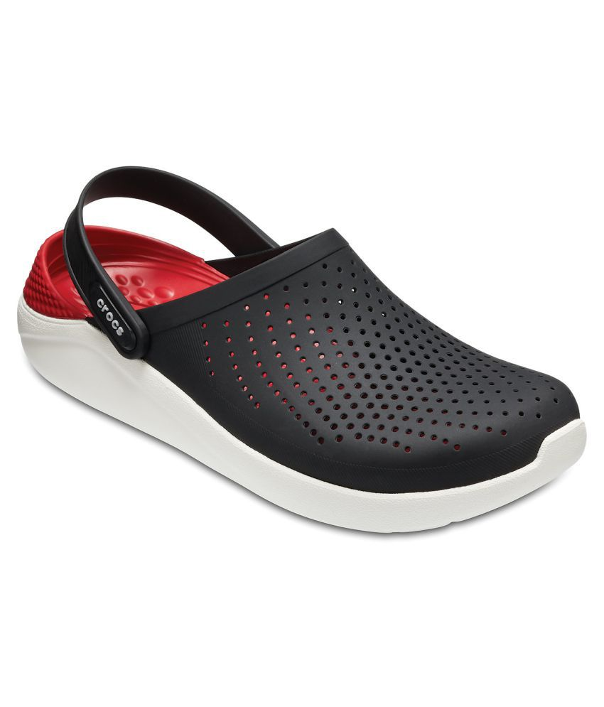 80e0c623ea71 Crocs LiteRide Black Floater Sandals - Buy Crocs LiteRide Black Floater  Sandals Online at Best Prices in India on Snapdeal