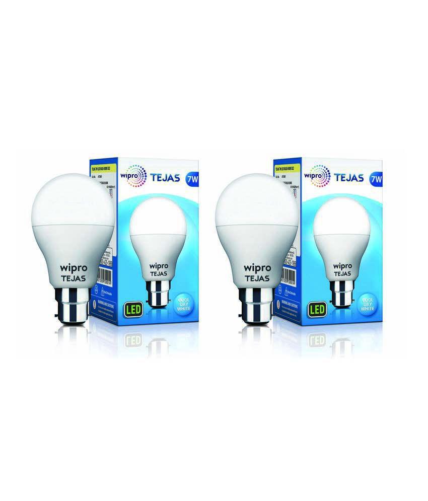 Wipro 7W Pack of 2 LED Bulb
