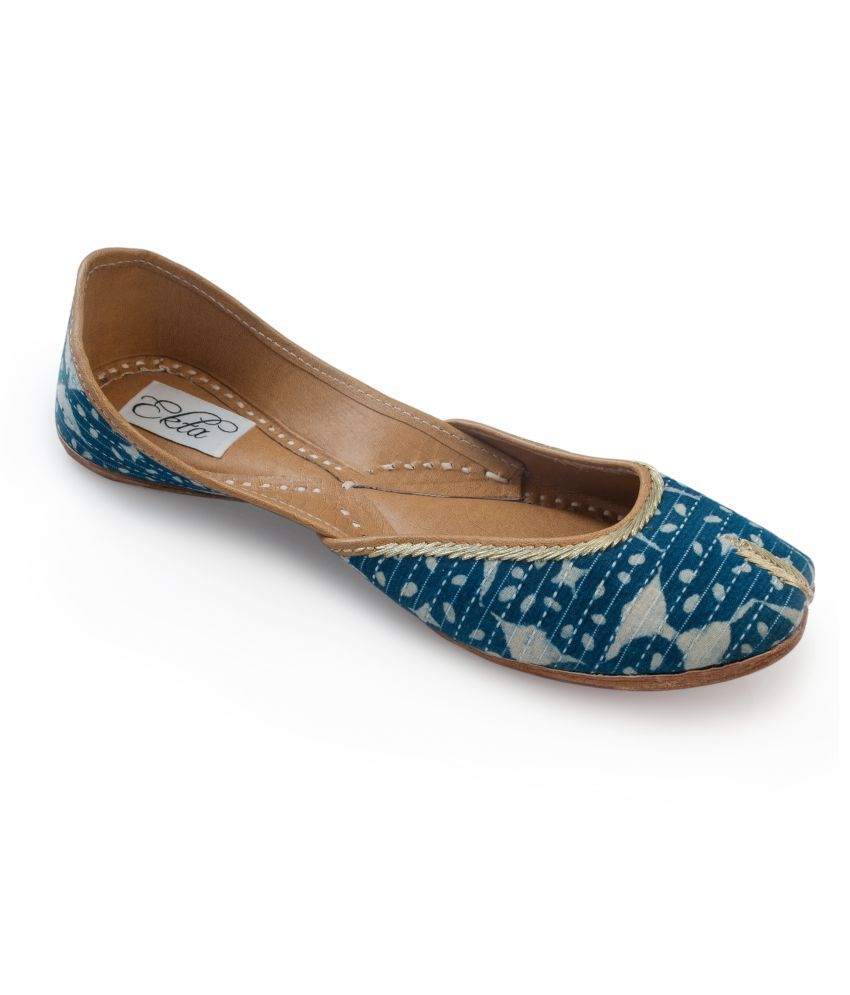 Ekta Blue Ethnic Footwear