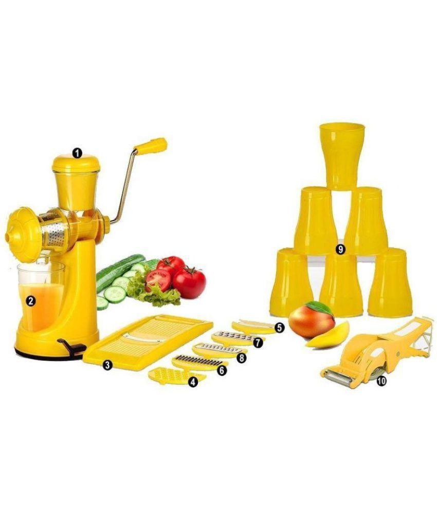 magikware kitchen tools combo elegant yellow fruit juicer 6 in 1