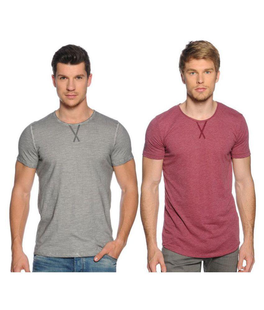 Zachi Pink Round T-Shirt Pack of 2