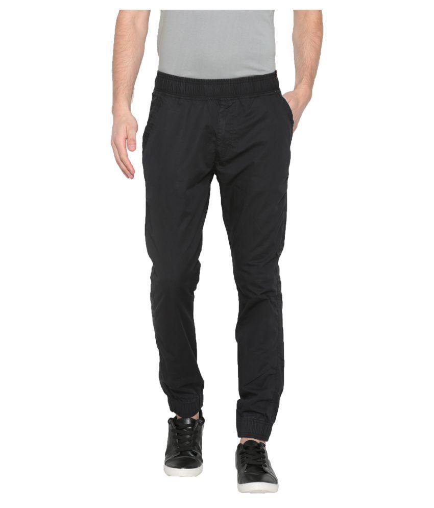 Sports 52 Wear Black Slim -Fit Flat Joggers