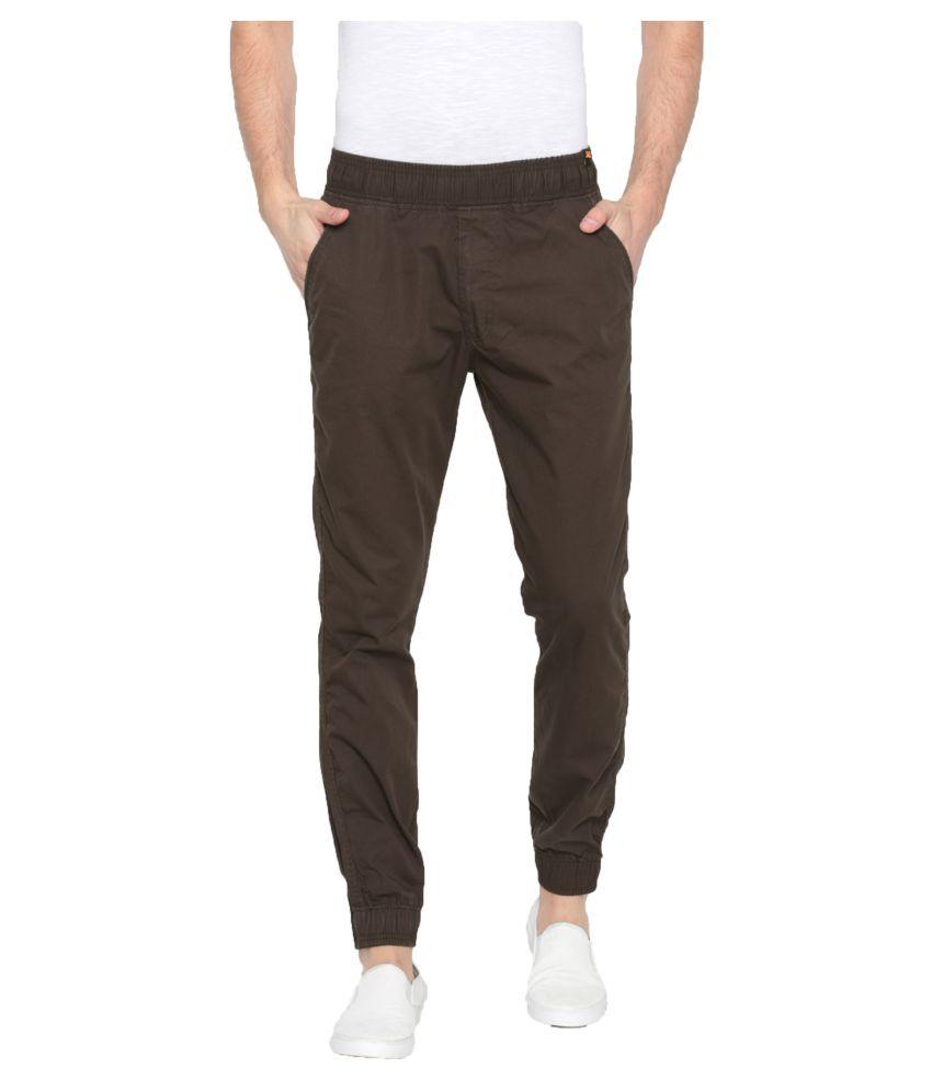 Sports 52 Wear Brown Slim -Fit Flat Joggers