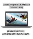 Lenovo Ideapad 320E (80XH01GEIN) Notebook (6th Gen Intel Core i3- 4GB RAM- 1TB HDD- 39.62cm(15.6)- DOS) (Black)