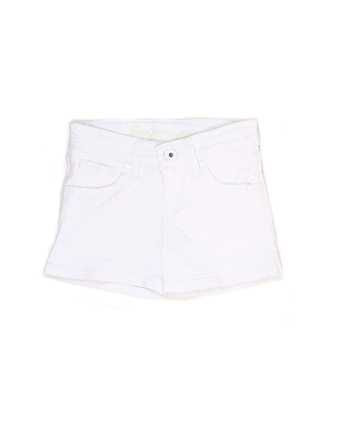 Pepe Jeans Girls Solid Casual Shorts
