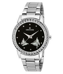 Decode Ladies Crystal Studded 21-030 Black Diamond Collection Watch for Women/Girls