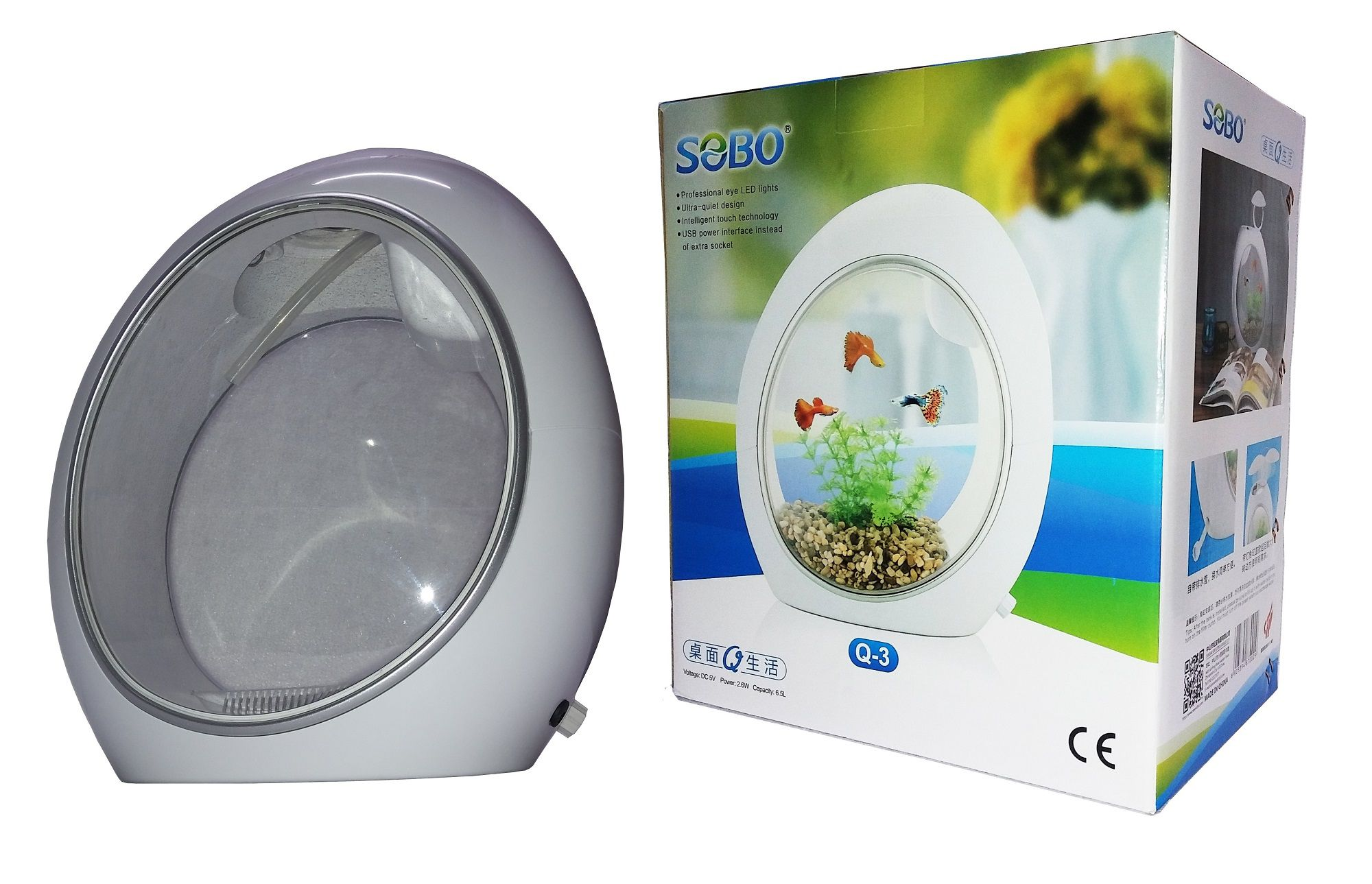 SOBO Q 3 Mini Tank 6 5L Bowls Plastic Aquarium Buy SOBO Q 3 Mini