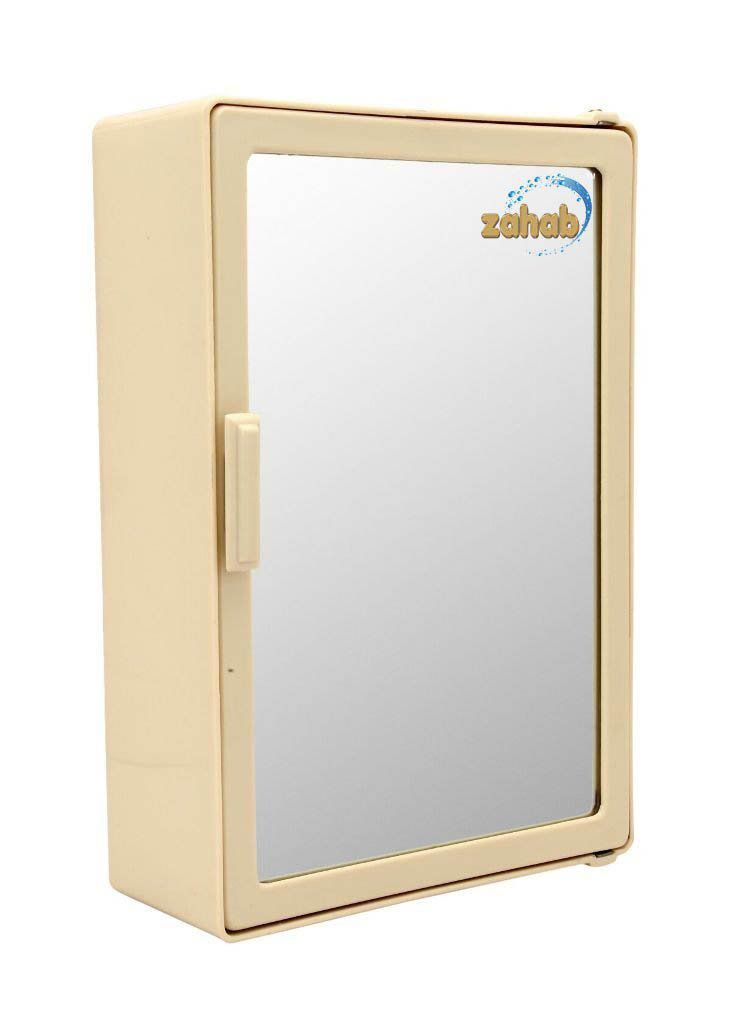 Zahab Mini Single Door Plastic Bathroom Cabinet With Mirror
