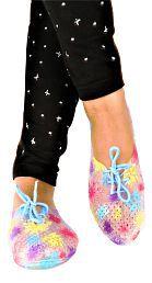 Falcon18 Women flat Eva Sole Croc Shoe Blue Slide Flip flop