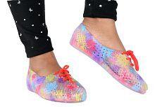 Falcon18 Women flat Eva Sole Croc Shoe Red Slide Flip flop