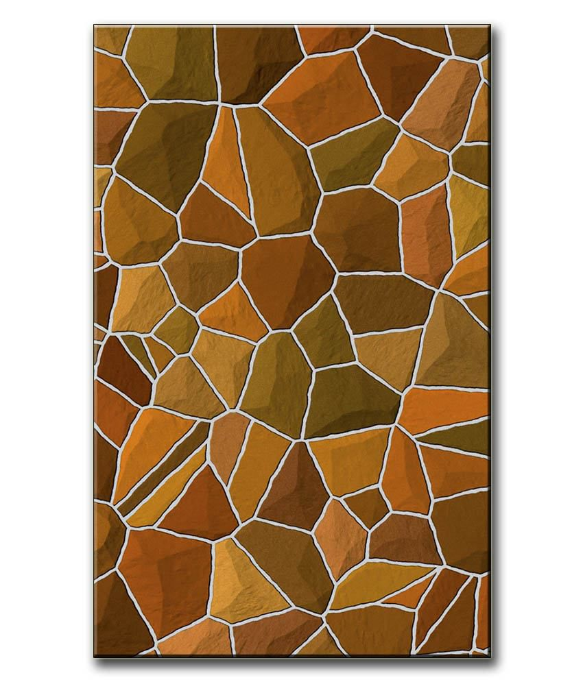 Anwesha's Gallery Wrapped Digitally Printed 12.5 X 20 Inch - Stone Canvas Painting With Frame