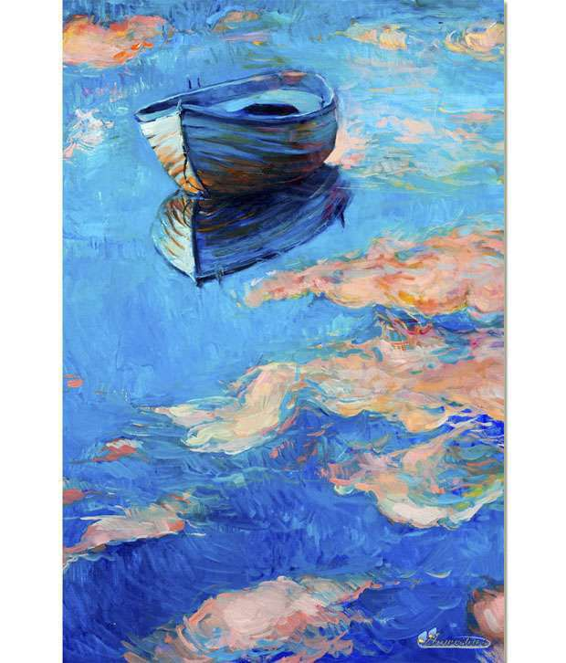 Anwesha's Gallery Wrapped Digitally Printed 30x20 Inch - 116 Canvas Painting With Frame