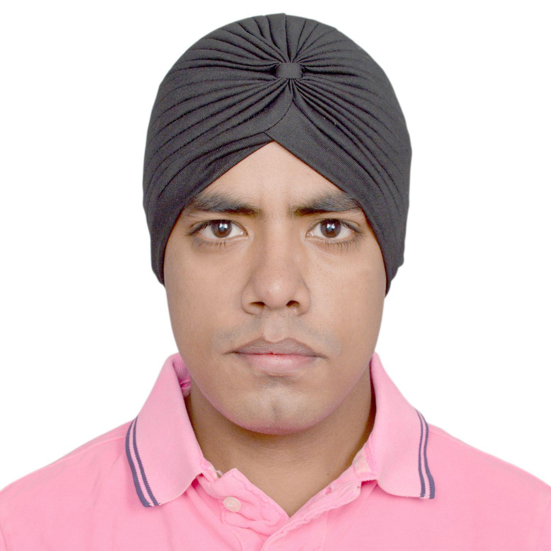 R.J.VON Black Polyester Headwraps
