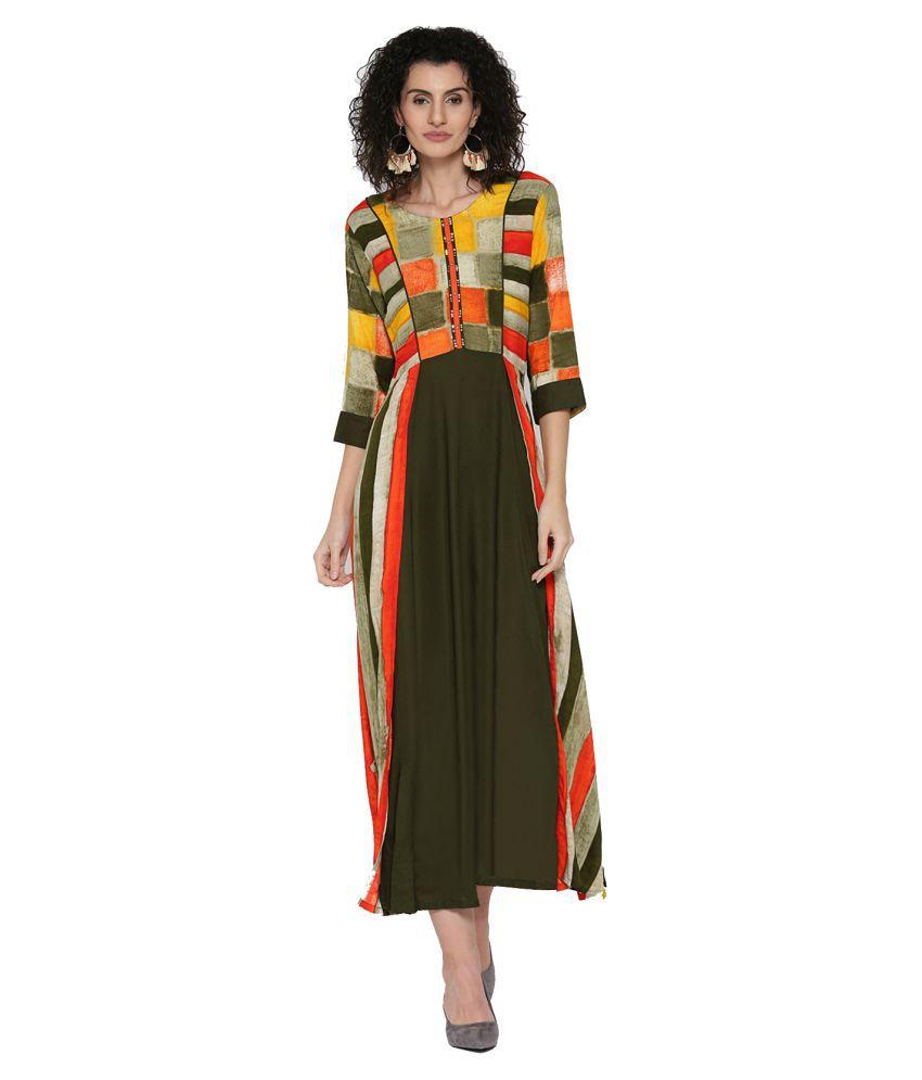 Shree Rayon Multi Color Dresses