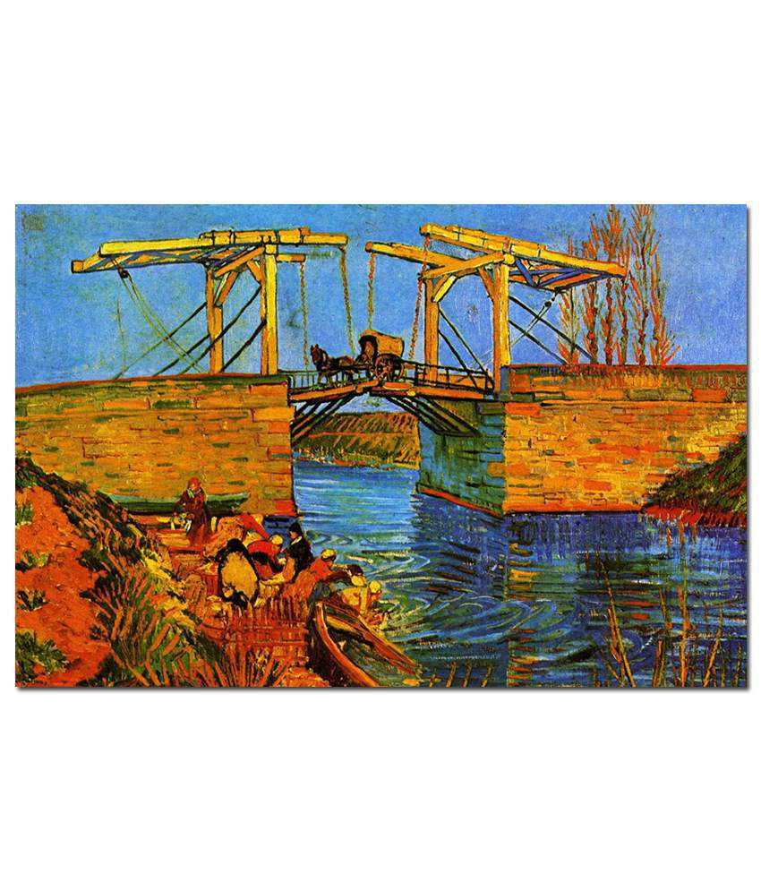 Anwesha's Gallery Wrapped Digitally Printed 30X20 Inch Vincent Van Gogh Canvas Painting With Frame