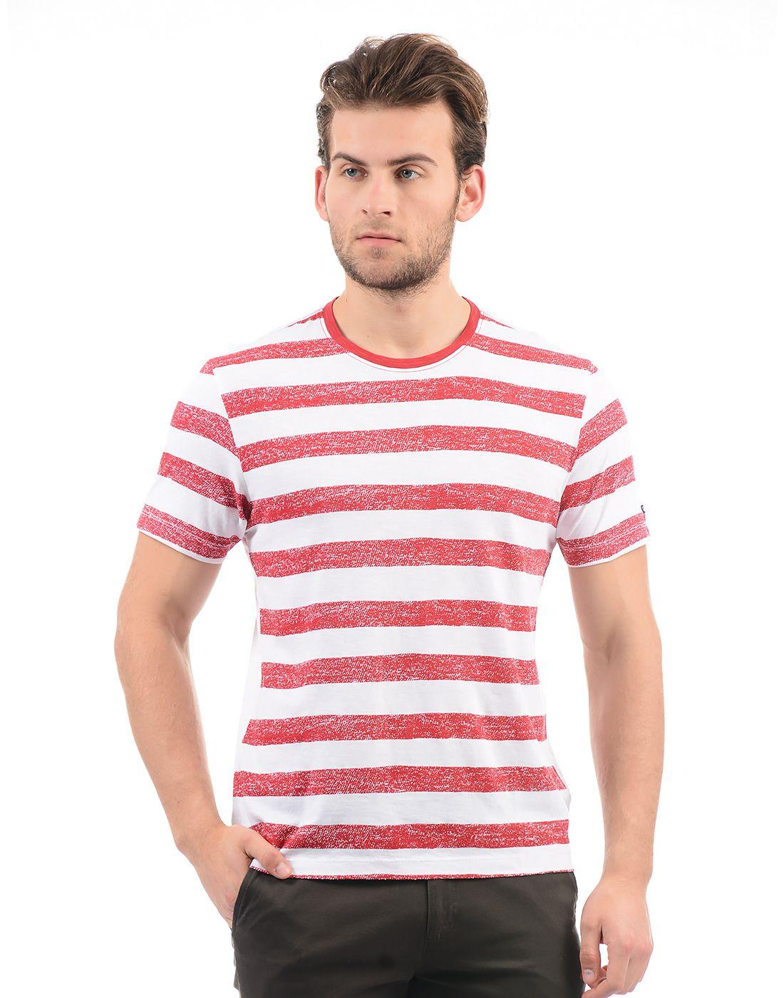 Arrow Sport Red Round T-Shirt