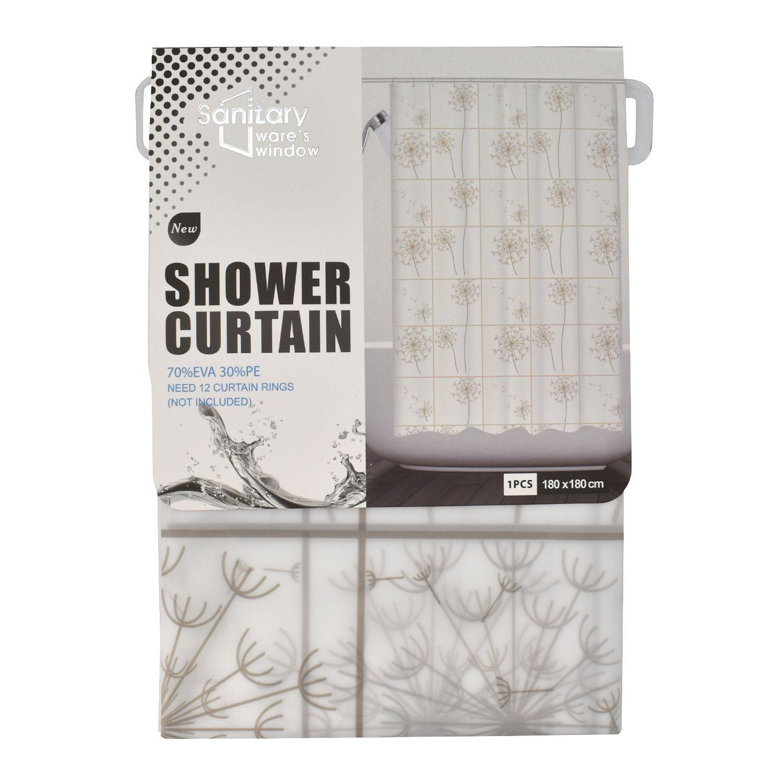 SHOPNJAZZ Single Shower Curtain Multi Others