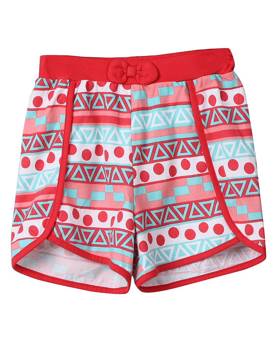 Tribal Print Knitted Shorts Multi-col 5Y