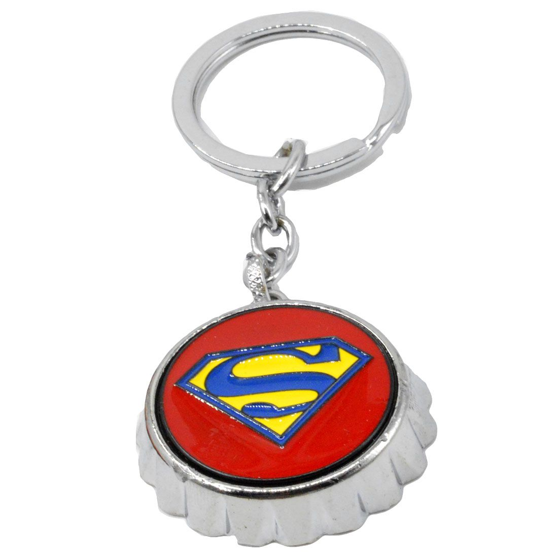 Faynci High Quality Stainless Steel Unique Man of Steel Red Button