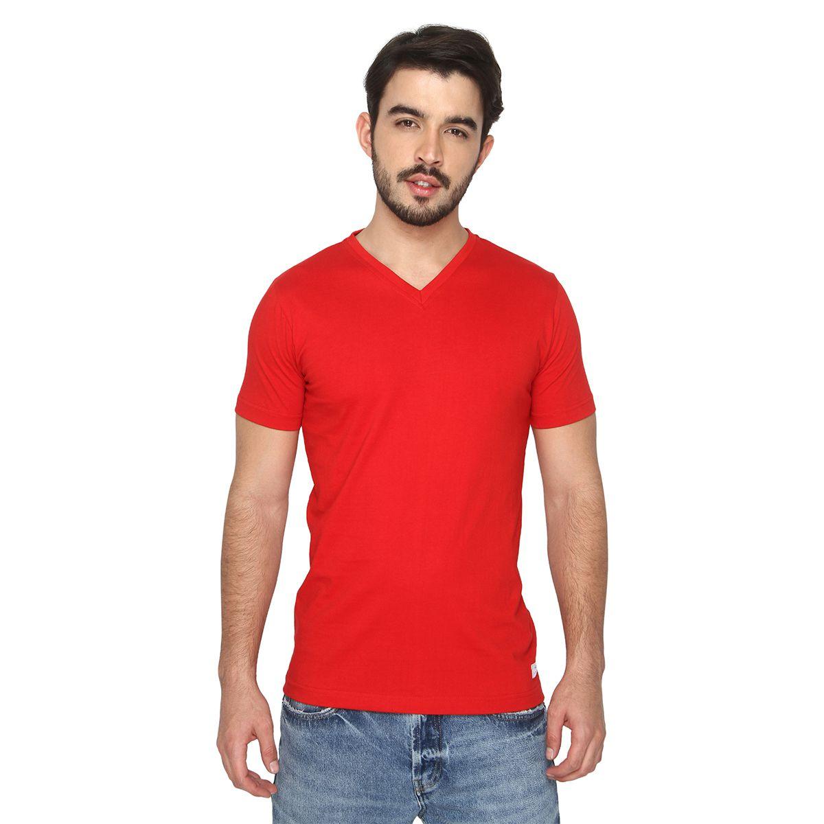 Foryou Red V-Neck T-Shirt