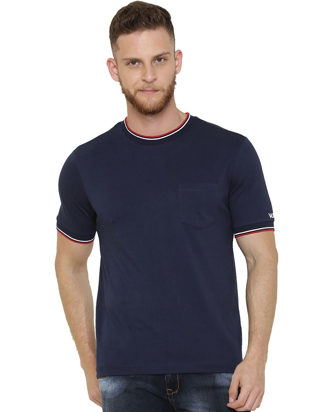 VUDU Navy Round T-Shirt