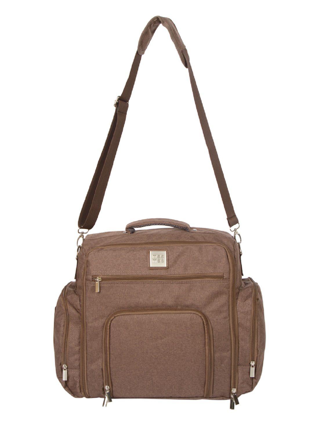 Mee Mee Brown Polyester Diaper Bag   40 cm