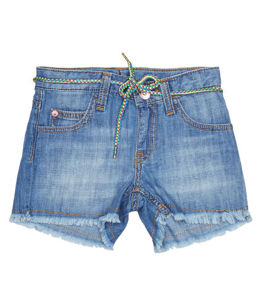 United Colors of Benetton Shorts With Belt And Badge - 16P4DENC0127I901EL